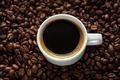 Steaming espresso served in cup on dark - PhotoDune Item for Sale