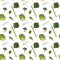 Seamless pattern with vegetables on white background - PhotoDune Item for Sale