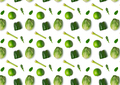 Seamless pattern with vegetables on white background, horizontal - PhotoDune Item for Sale
