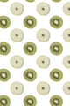 Creative seamless pattern made of kiwi and slices of apple, flat lay. Food concept - PhotoDune Item for Sale