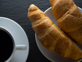 Cup of coffe and croissants - PhotoDune Item for Sale