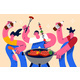 Barbecue Summer Party Fun Concept - GraphicRiver Item for Sale