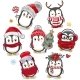 Cute Cartoon Christmas Penguins on a White - GraphicRiver Item for Sale