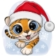 Cartoon Tiger Creeping Up Ion a Blue Background - GraphicRiver Item for Sale