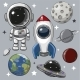 Set of Astronaut Rocket and Planets - GraphicRiver Item for Sale