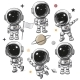 Set of Astronaut Isolated on a White Background - GraphicRiver Item for Sale