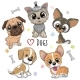 Cute Cartoon Dogs Isolated on a White Background - GraphicRiver Item for Sale