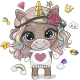 Unicorn in a White Dress with Long Hair - GraphicRiver Item for Sale
