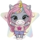 Cartoon Unicorn Girl with Long Pink Hair - GraphicRiver Item for Sale