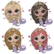 Cartoon Mermaids in Different Colors on a White - GraphicRiver Item for Sale
