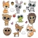 Cute Cartoon Animals on a White Background - GraphicRiver Item for Sale