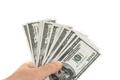 Hand holding money banknotes isolated on white background - PhotoDune Item for Sale