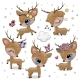 Cartoon Deer Isolated on a White Background - GraphicRiver Item for Sale