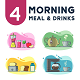 4 Morning Meal and Drinks Illustration - GraphicRiver Item for Sale