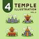 4 Temple Illustration Vol 2 - GraphicRiver Item for Sale