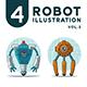 4 Robot Illustration Vol 2 - GraphicRiver Item for Sale