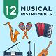12 Musical Instrument Illustration - GraphicRiver Item for Sale
