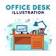 Office Desk Ilustration - GraphicRiver Item for Sale