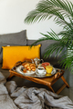 French breakfast in bed on table tray - PhotoDune Item for Sale