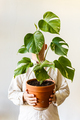 Man holding pot with house plant - PhotoDune Item for Sale
