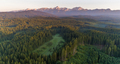 Forest and mountains at sunrise - PhotoDune Item for Sale