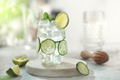 Cucumber cocktail lemonade with lime on the table - PhotoDune Item for Sale