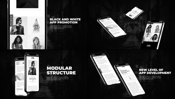 Black And White App Promo