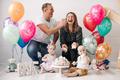 Happy family having fun get dirty cake cream on face celebrating children happy birthday - PhotoDune Item for Sale