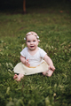 Portrait of beautiful baby goes for a walk in the park in summer - PhotoDune Item for Sale