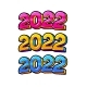 2022 New Year Comic Book Style Postcard  - GraphicRiver Item for Sale