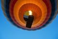 colorful hot air balloon rising up using burner flame - PhotoDune Item for Sale