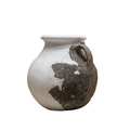 front view closeup of antique reconstructed vase on white - PhotoDune Item for Sale