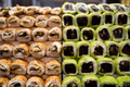 rows of Turkish delight sweets lined up in window - PhotoDune Item for Sale