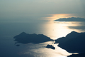 beautiful aerial panorama of mountains islands and sea at sunset - PhotoDune Item for Sale