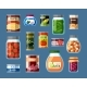 Home and Factory Canned Food Set - GraphicRiver Item for Sale