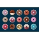 Sweet Donuts with Decorative Glaze Set - GraphicRiver Item for Sale