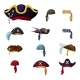 Colorful Corsair and Pirate Hats Set - GraphicRiver Item for Sale