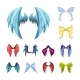 Colorful Magic Wings Set - GraphicRiver Item for Sale