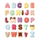 Alphabet Fro Sweet Pastries Set - GraphicRiver Item for Sale