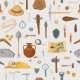 Archaeological Ancient Finds and Tools Seamless - GraphicRiver Item for Sale