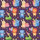 Happy Birthday Seamless Pattern. Cute Animal Lion, Rhino, Koala, Rabbit, Snake. - GraphicRiver Item for Sale