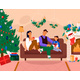 Family Celebrating New Year at Home - GraphicRiver Item for Sale