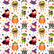 Children in Halloween Costumes of Spooky Creatures. Day of Dead Holiday Seamless Pattern - GraphicRiver Item for Sale