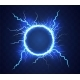 Realistic Circle of Thunder Storm Lightnings - GraphicRiver Item for Sale