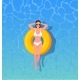 Woman Sunbathing Top View - GraphicRiver Item for Sale