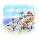 Oia at Sunset Santorini Greece - GraphicRiver Item for Sale
