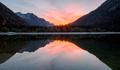 Sunset lake reflection - PhotoDune Item for Sale