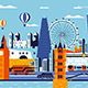 London City Colorful Flat Design Style - GraphicRiver Item for Sale