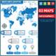 Maps Infographics design - GraphicRiver Item for Sale