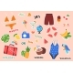 Summer Stickers and Posters - GraphicRiver Item for Sale